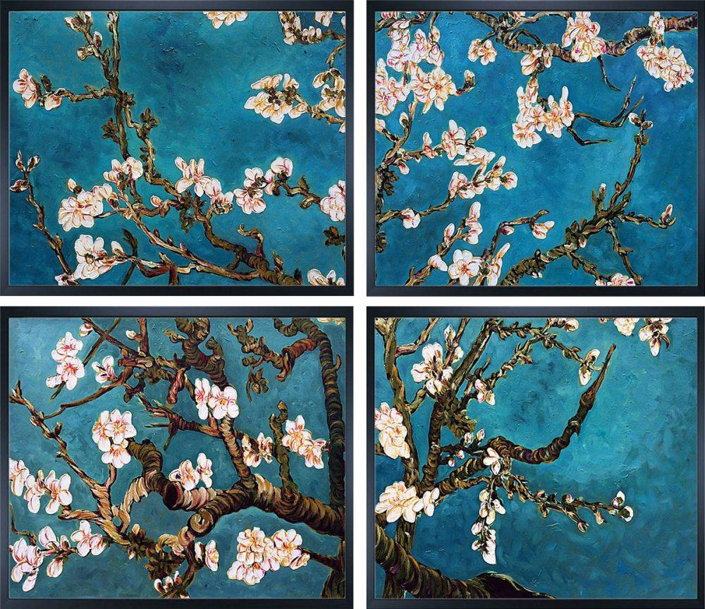 Branches of an Almond Tree in Blossom (Grouping) Pre-Framed