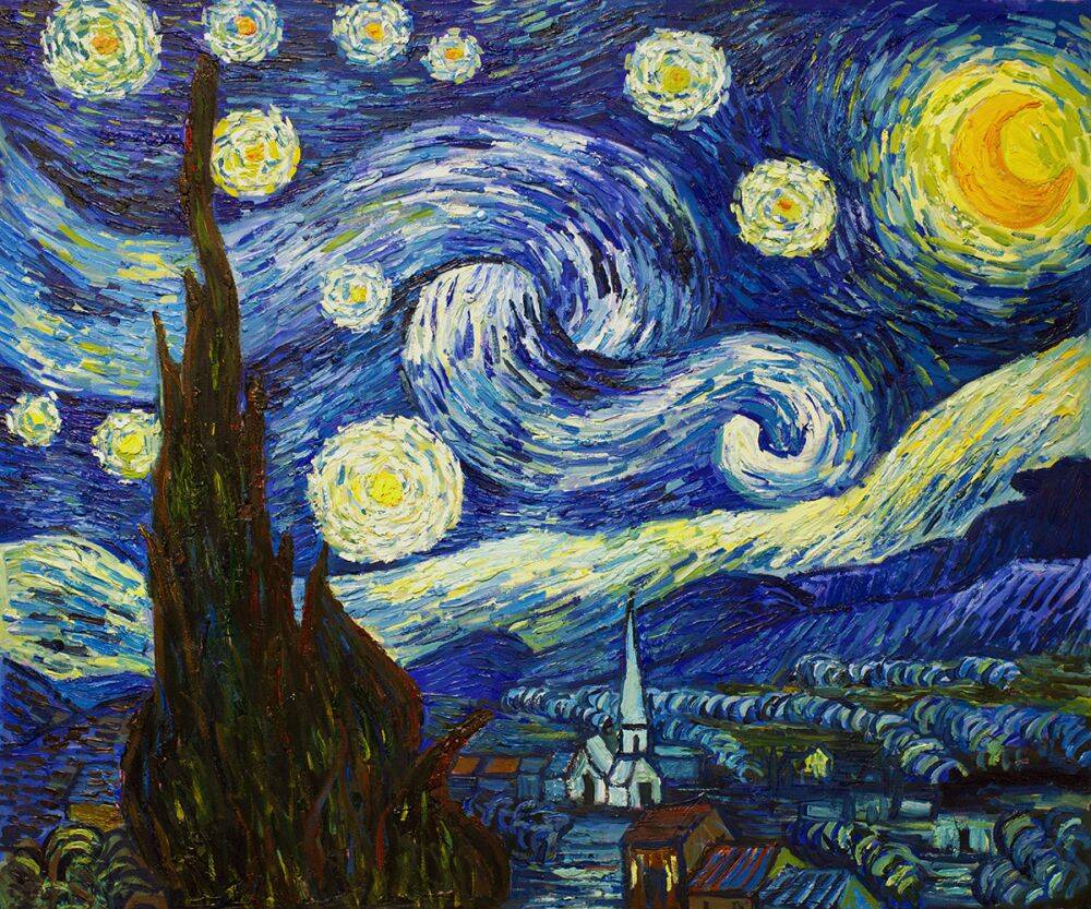 Starry Night Vincent Van Gogh Small 8 X 10 16900