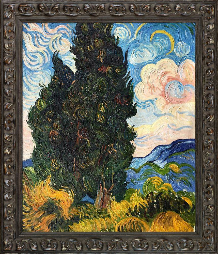 Two Cypresses Pre-Framed
