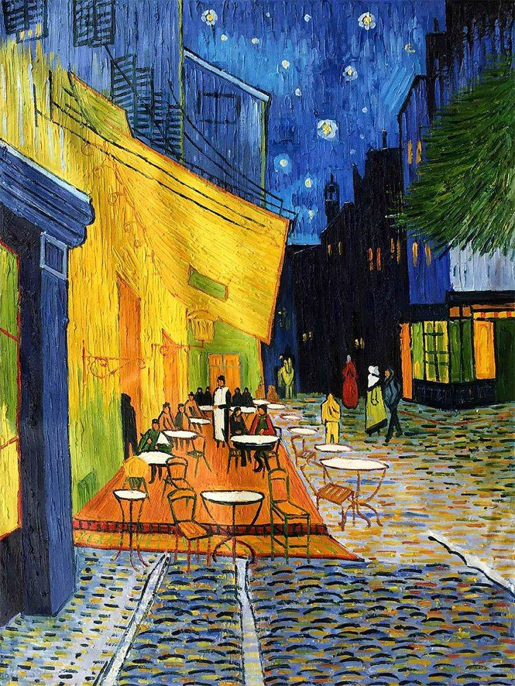 Van Gogh Cafe Terrace At Night Reproduction Art