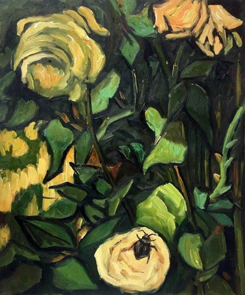 Roses and Beetle, 1890