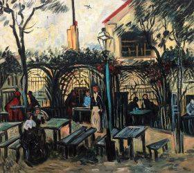"Terrace of a Cafe on Montmartre ""La Guinguette"""