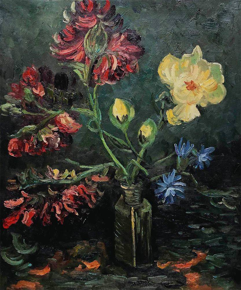 Vase with Myosotis and Peonies, 1886