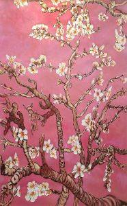 Branches of an Almond Tree in Blossom, Pearl Pink