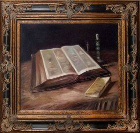 Still Life with Bible Pre-Framed