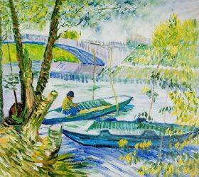 Fishing in Spring, The Pont de Clichy (Asnieres)