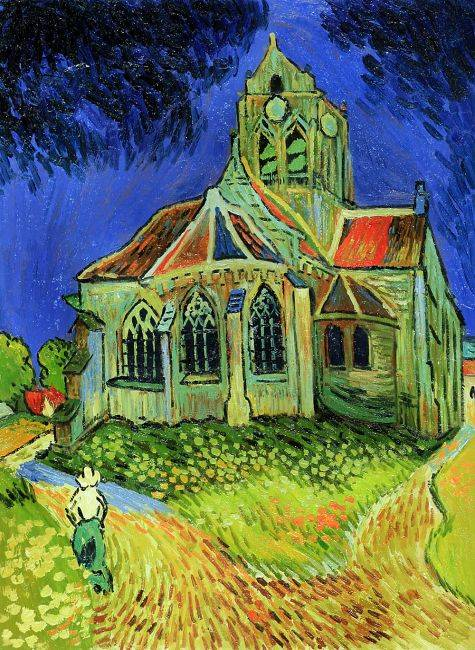 The Church at Auvers - Vincent Van Gogh Reproduction