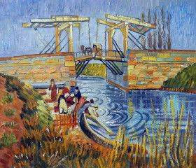 Langlois Bridge at Arles with Women Washing