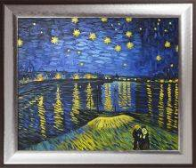Starry Night Over the Rhone (Luxury Line) Pre-Framed