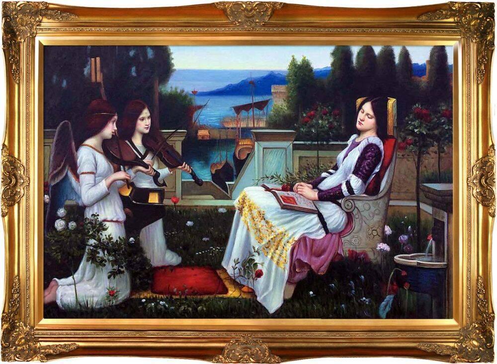 Saint Cecilia, 1895 Pre-Framed