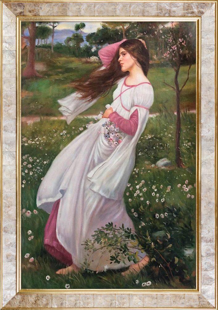 Windflowers, 1902 Pre-Framed