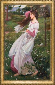 Windflowers, 1902 Pre-Framed