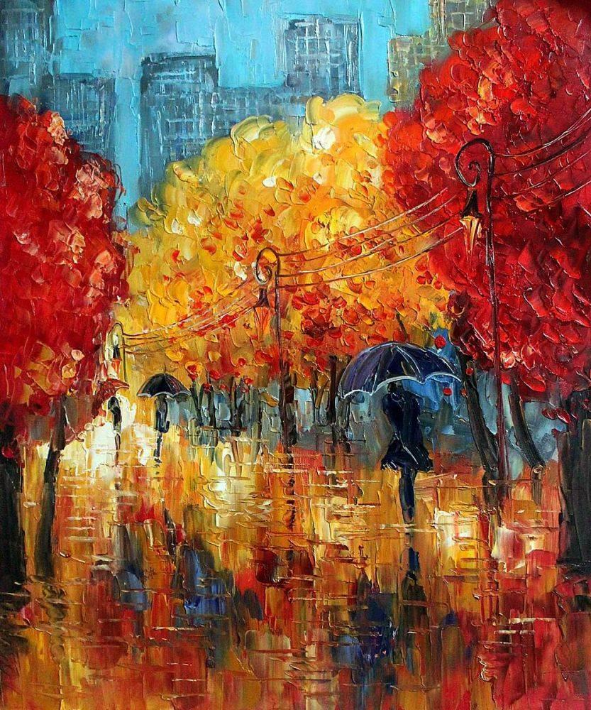 Autumn (Umbrellas)
