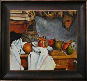 Ginger Pot with Pomegranate and Pears Pre-Framed