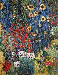 Farm Garden with Sunflowers