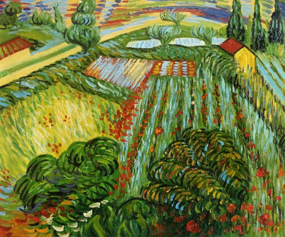 Field with Poppies in Saint Remy, 1889