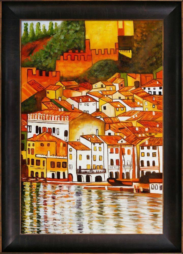Malcesine on Lake Garda Pre-Framed