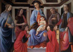 Madonna and Child with Six Saints