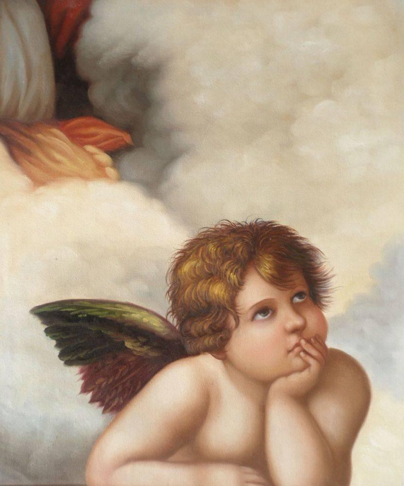 Madonna Sixtina (cherub detail)