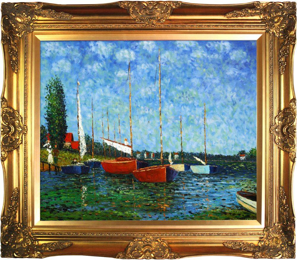 Red Boats at Argenteuil Pre-Framed