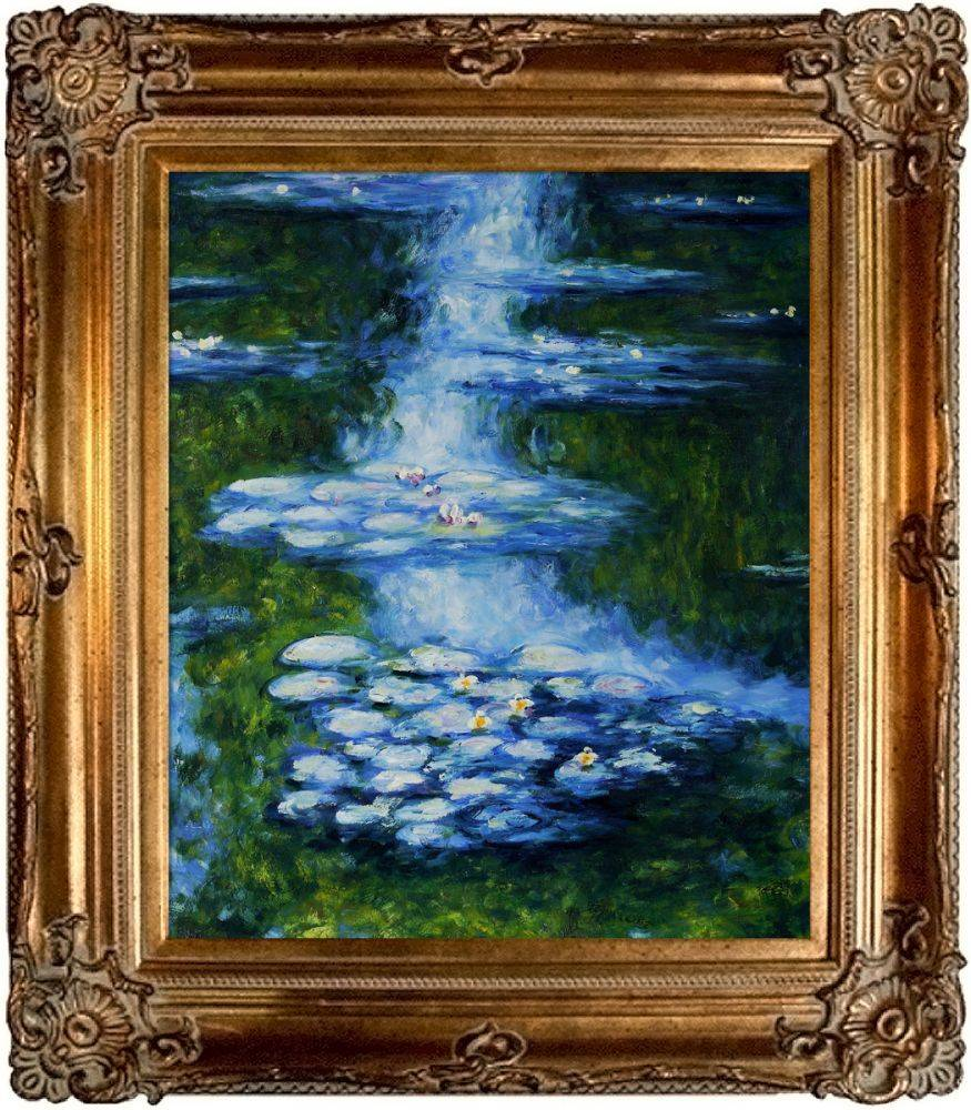 Water Lilies (blue-green) Pre-Framed