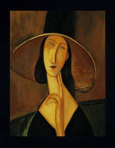 Portrait of Woman in Hat Pre-Framed