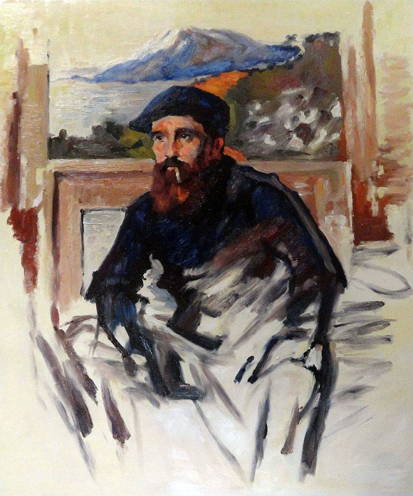 Self Portrait in his Atelier (unfinished image)