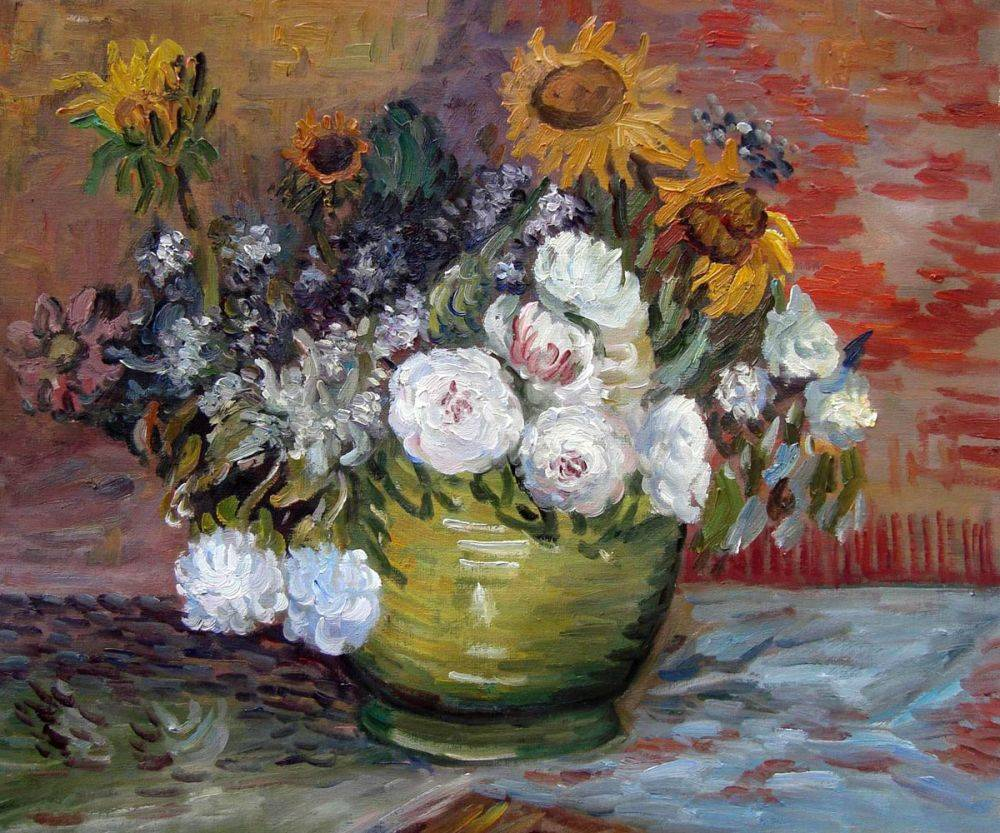 Sunflowers, Roses and Other Flowers
