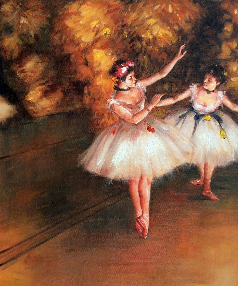 Two Dancers on Stage