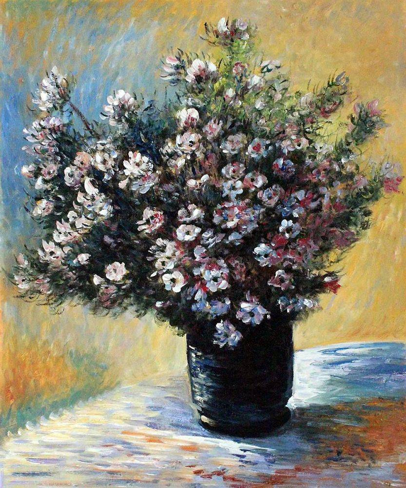Vase Of Black Flowers Painting