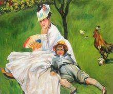Camille Monet and Her Son Jean in the Garden at Argenteuil