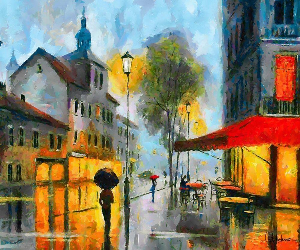 Cafe on a Rainy Day
