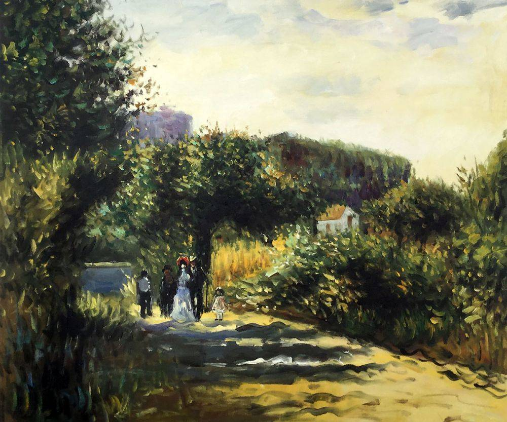 A Road in Louveciennes, 1870