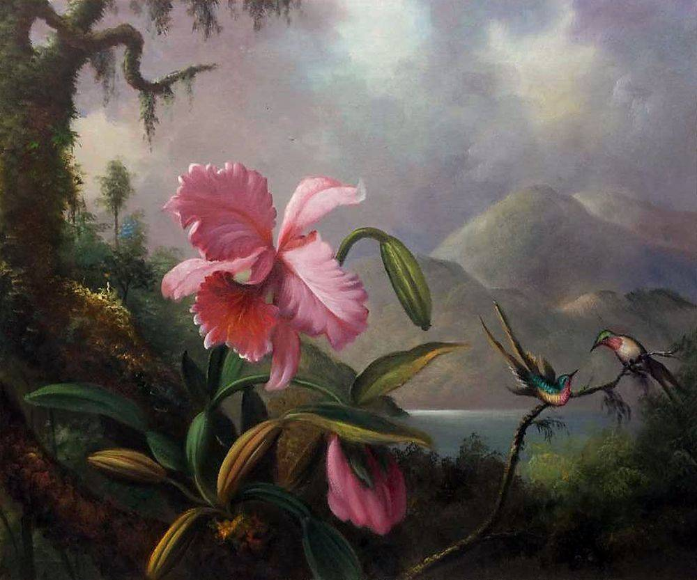 Orchids and Hummingbirds, 1890