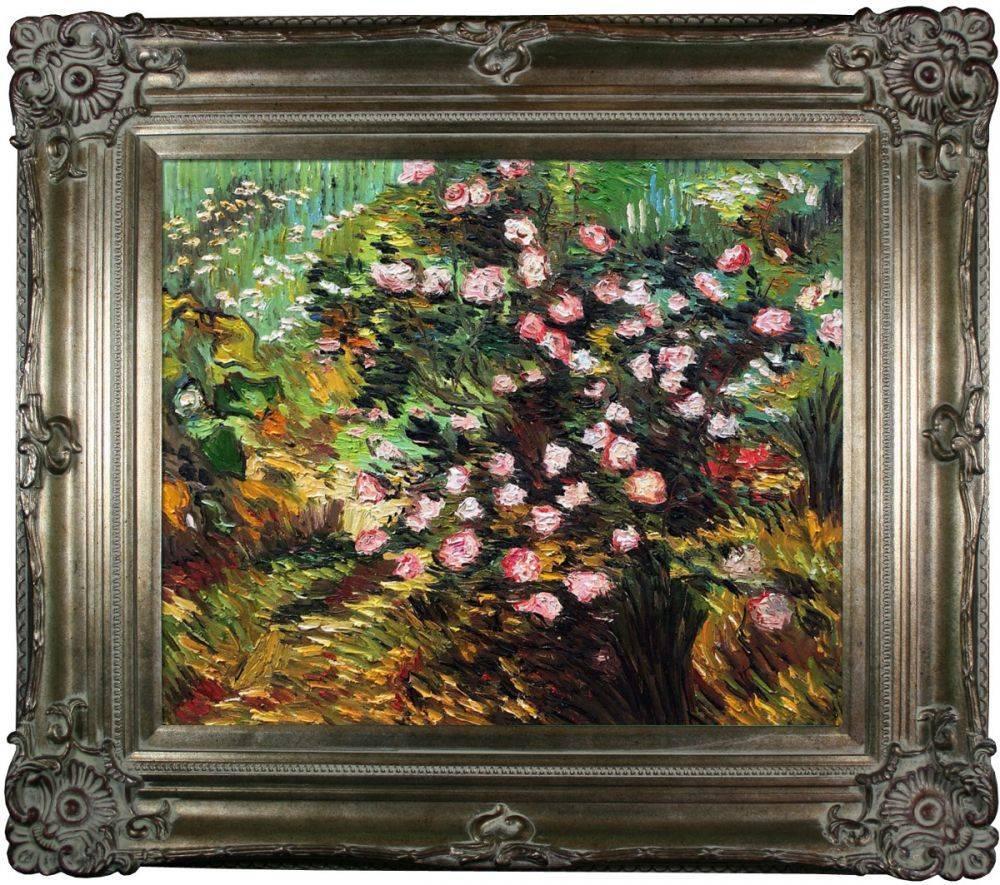 Rosebush in Blossom Pre-Framed