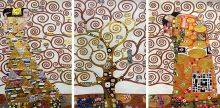 Tree of Life Frieze Triptych (Luxury Line)