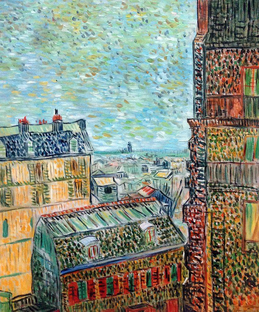 View of Paris from Vincent's Room in the Rue Lepic, 1887