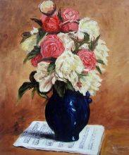 Bouquet of Peonies on a Musical Score, 1876