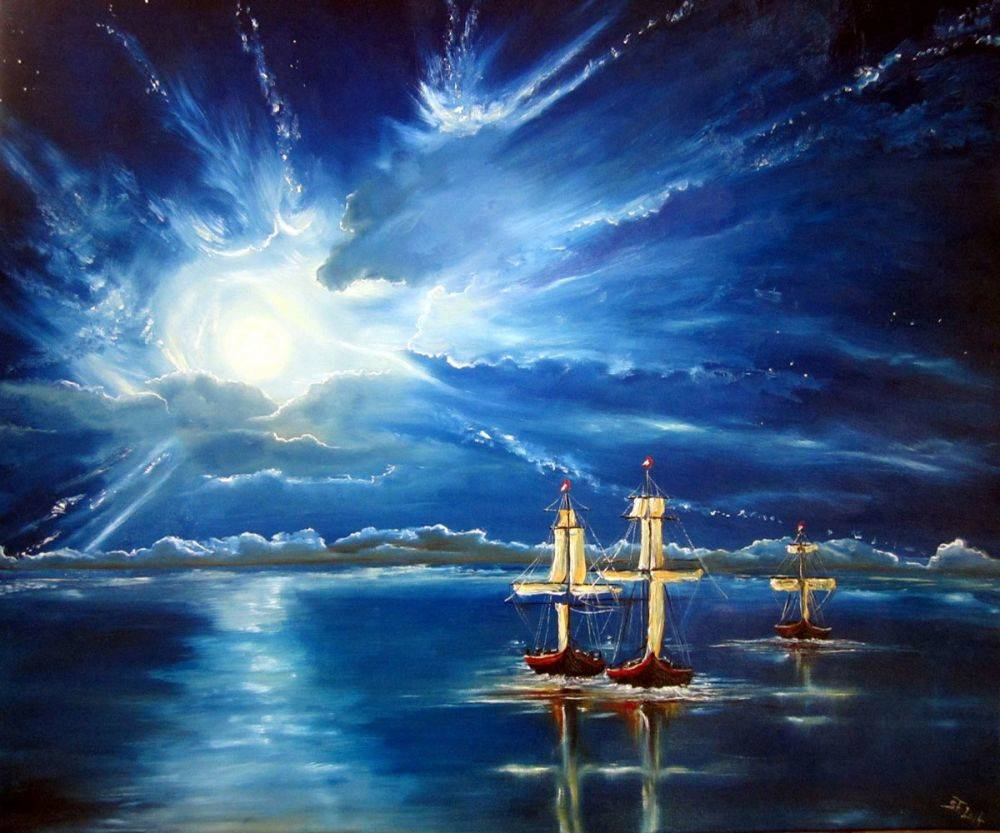 00Boats in the Moonlight