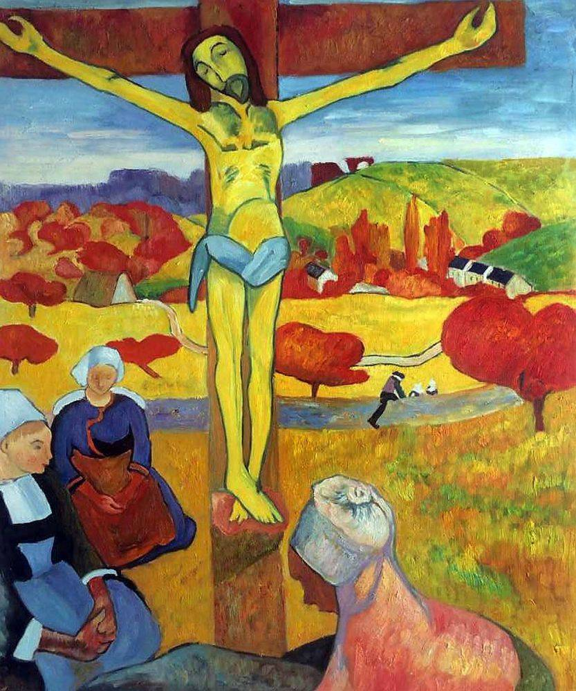 Paul Gauguin, Yellow Christ, 1889 - Hand Painted Oil Painting on Canvas