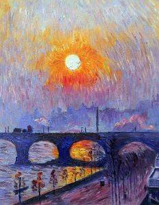 Sunset over Waterloo Bridge, 1916