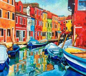 Colorful Canal Reproduction