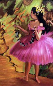 Dancer in Pink Dress (Luxury Line)