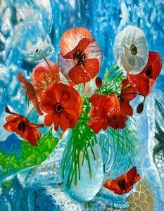 Still Life with Poppies Reproduction