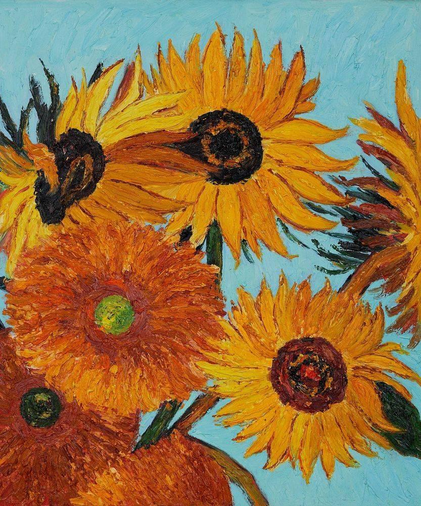 Sunflowers Detail (vertical)