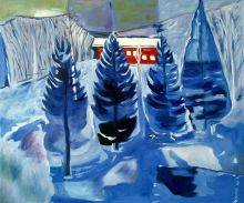 Red House and Spruces, 1927