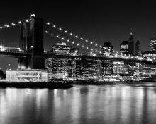 Night Skyline, Manhattan Brooklyn Bridge