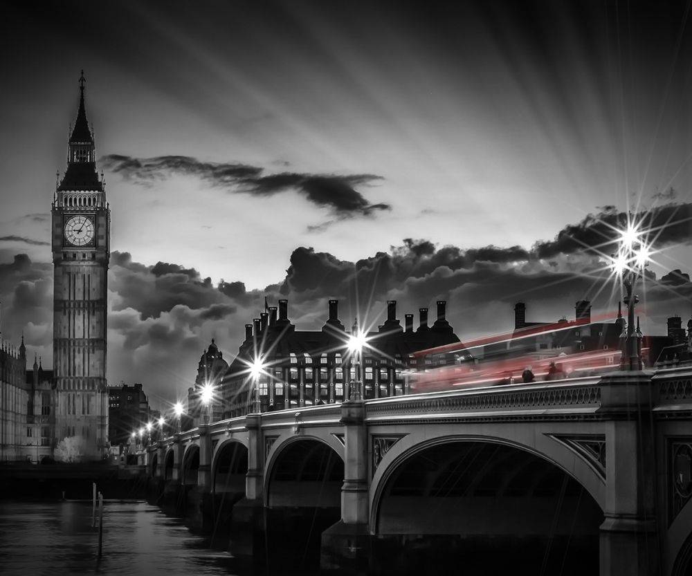 London, Westminster Bridge at Sunset