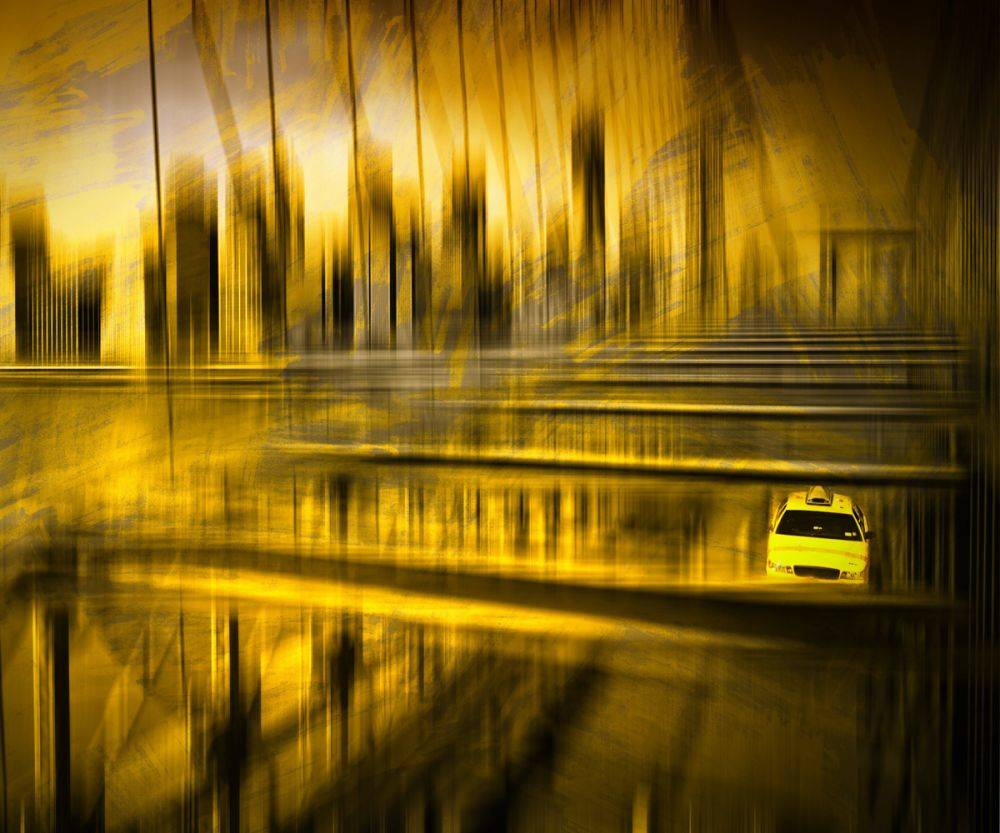 City Shapes, NYC Brooklyn Bridge - Melanie Viola Print