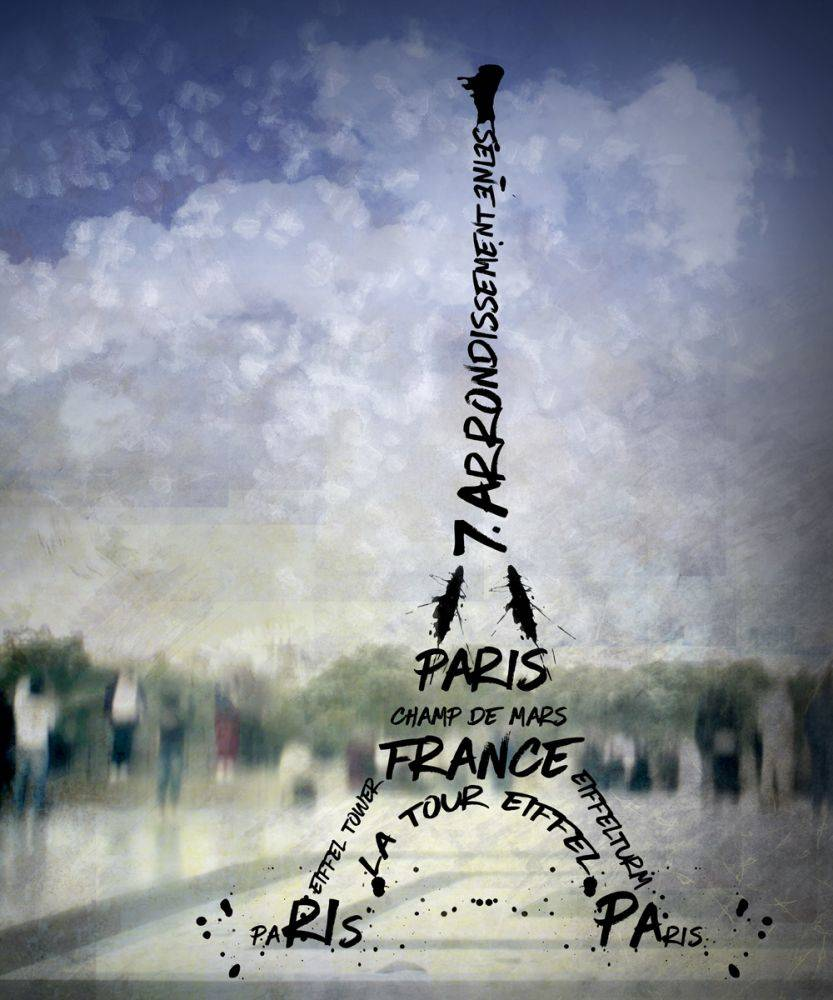 Digital Art, Paris Eiffel Tower No 1
